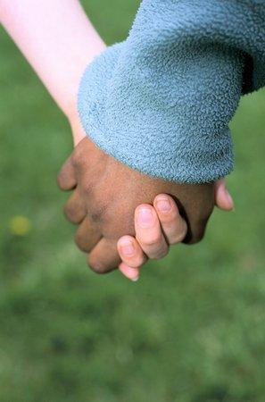 black white hands